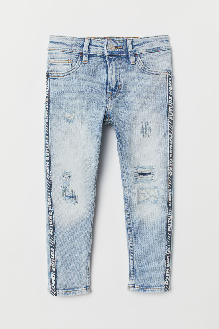 Relaxed Tapered Fit Jeans - Light blue/Washed - Kids | H&M GB