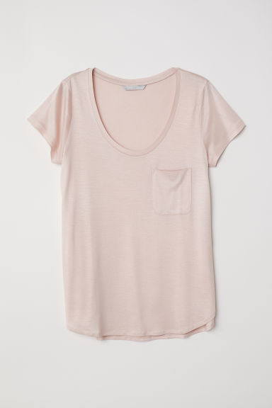 Jersey top - Light pink - Ladies | H&M CN