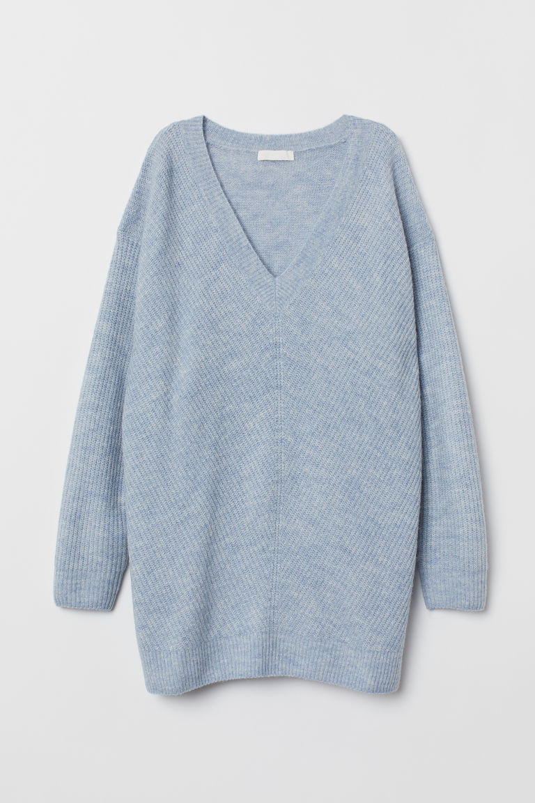 Knitted jumper - Light blue marl - Ladies | H&M IE