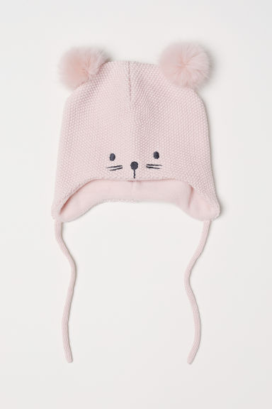 Knitted hat - Light pink -  | H&M