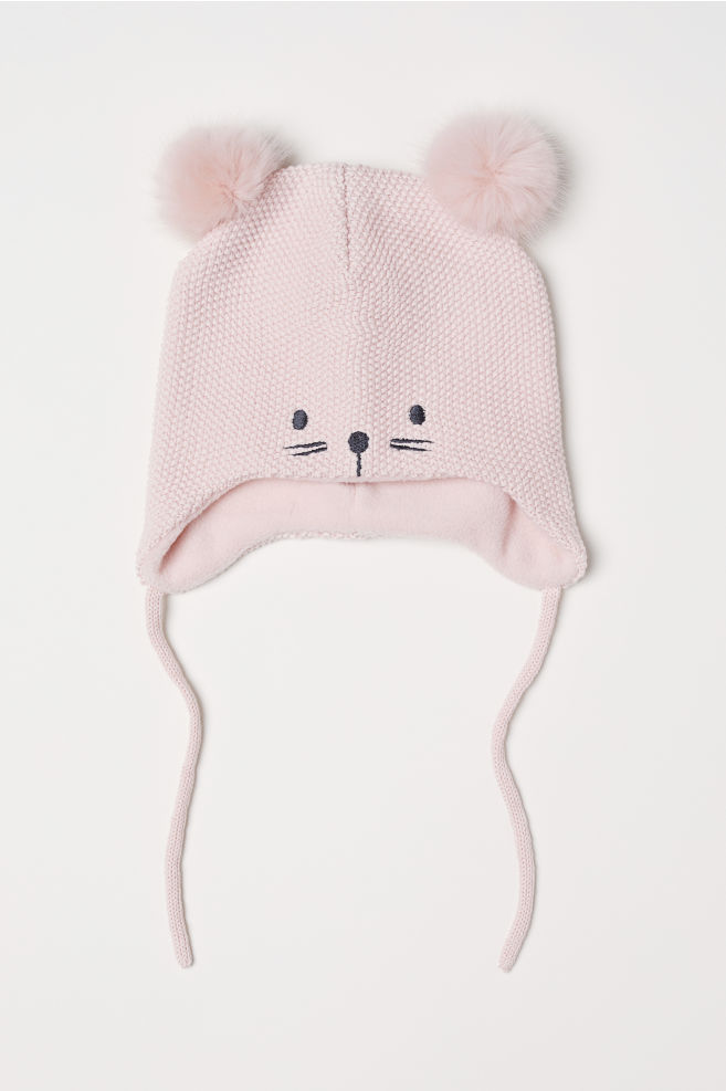 364891ecb3b Knitted hat - Light pink - Kids