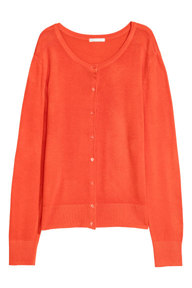 Fine-knit Cardigan - Orange - Ladies | H&M US