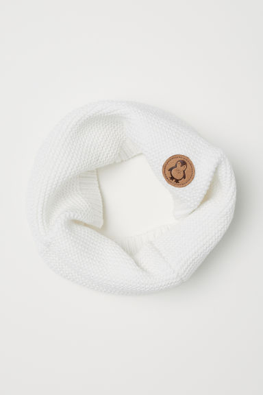 Knitted tube scarf - White - Kids | H&M CN