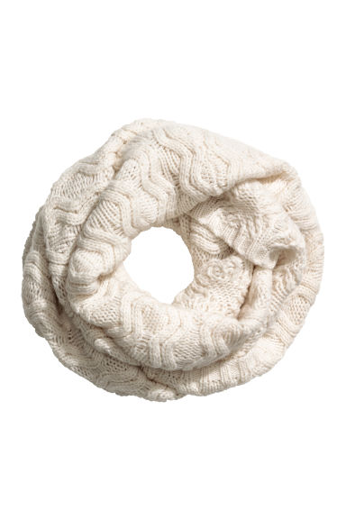 Wool-blend tube scarf - Natural white -  | H&M GB