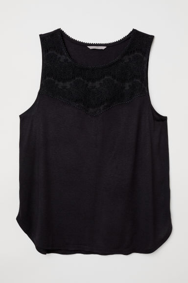 H&M+ Sleeveless jersey top - Black - Ladies | H&M CN