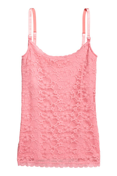 MAMA Lace nursing top - Light pink -  | H&M