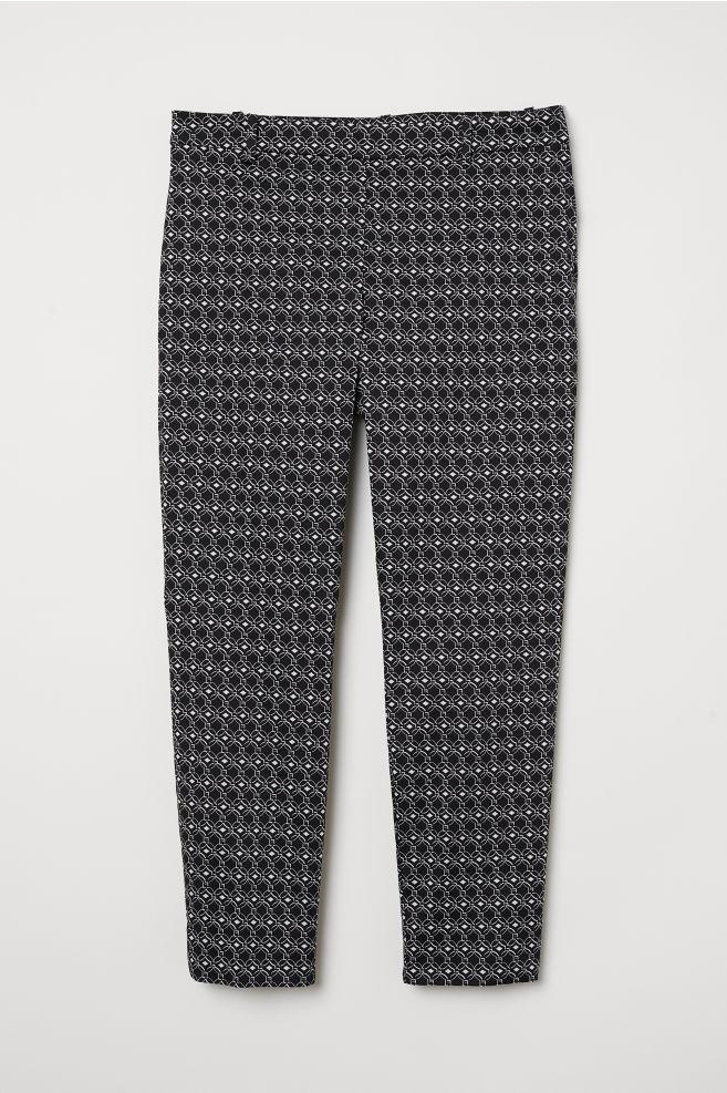 5d3aa2c89de H&M+ Елегантен панталон - Черен/С десен - ЖЕНИ | H&M ...