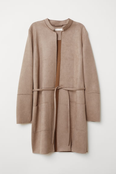 Imitation suede coat - Mole - Ladies | H&M