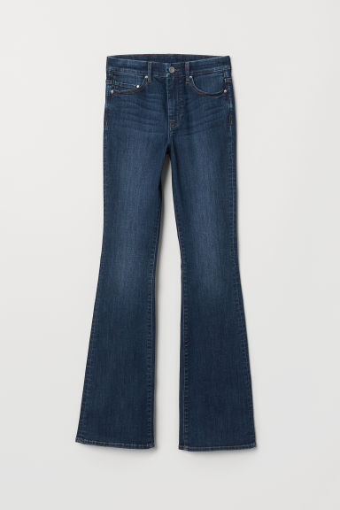 Mini Flare High Jeans - Dark denim blue - Ladies | H&M CN