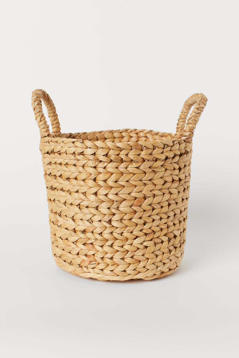 Small straw storage basket - Natural - Home All | H&M GB