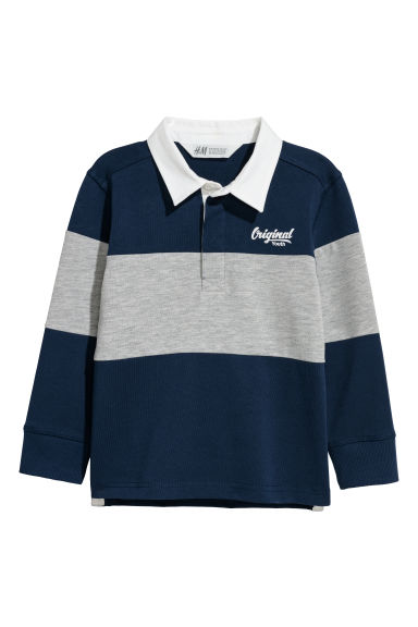 Rugby shirt - Dark blue/Grey marl -  | H&M