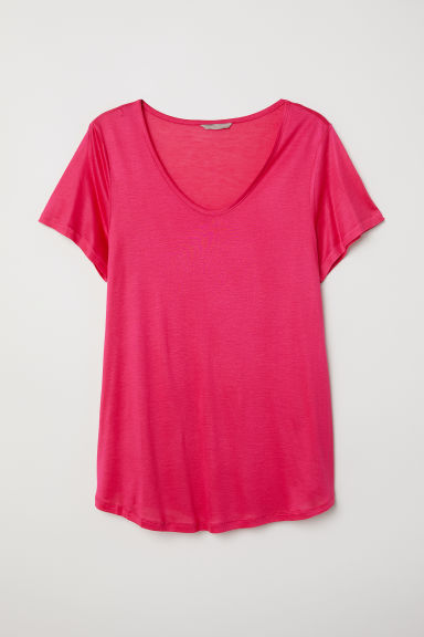 H&M+ Jersey top - Cerise - Ladies | H&M