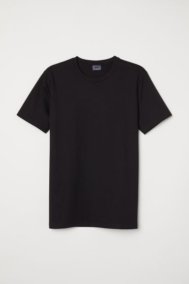 Premium cotton T-shirt - Black - Men | H&M CN