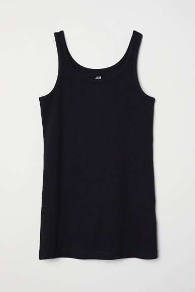 Jersey vest top - Black -  | H&M