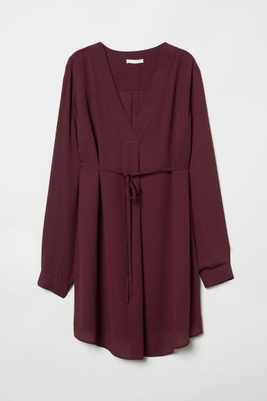 MAMA Tunic - Burgundy - Ladies | H&M CN