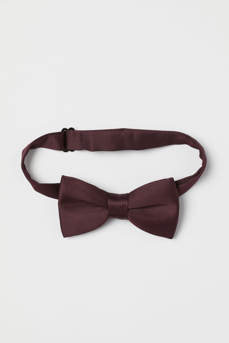 Papillon in satin - Bordeaux - UOMO | H&M IT