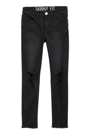Calças superstretch - Preto -  | H&M PT