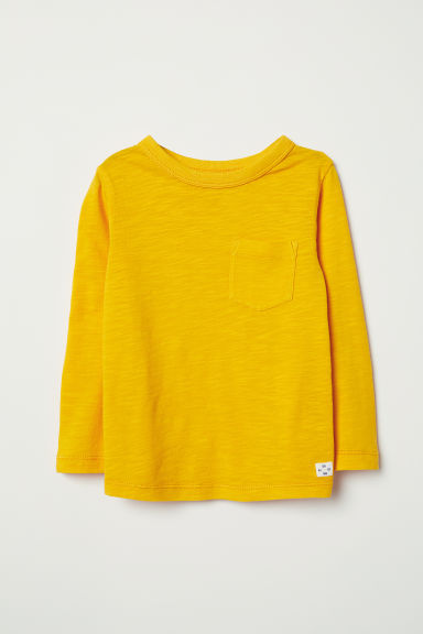Tricot T-shirt - Geel - KINDEREN | H&M BE