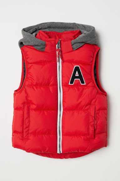 Padded gilet - Red - Kids | H&M