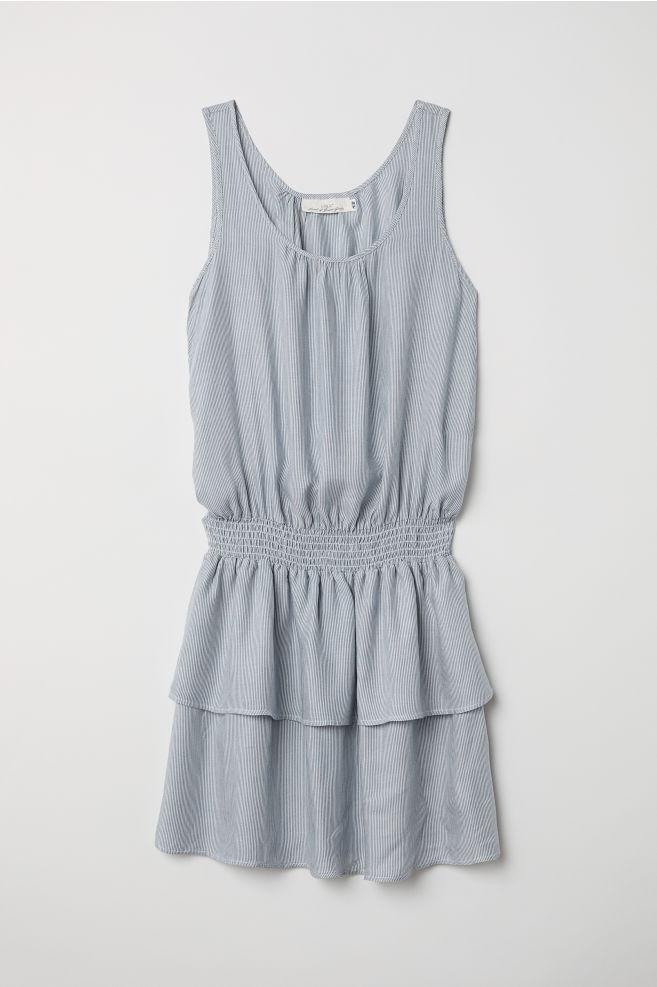 e7b90076eb44b Sleeveless Dress - Blue white striped - Ladies