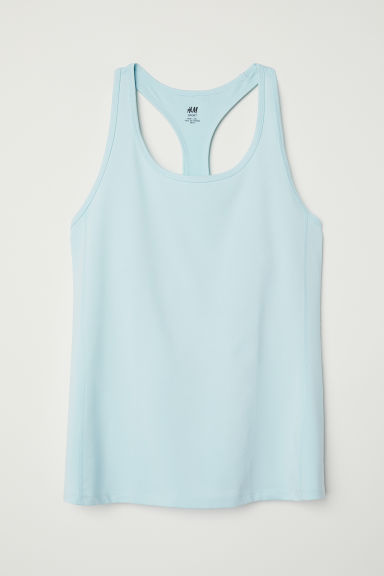 H&M+ Sports vest top - Light turquoise - Ladies | H&M