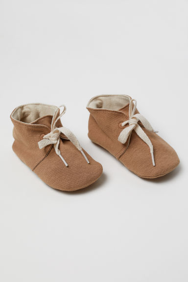 Soft cotton shoes - Dark beige - Kids | H&M
