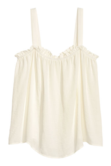 Top - Off-white - Ladies | H&M CN