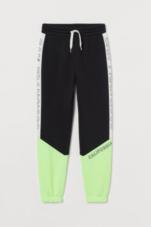 Pantalon jogger color block