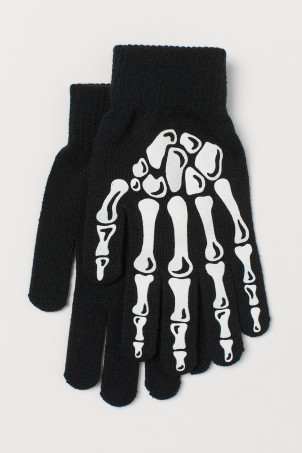 Glow-in-the-dark glovesModel