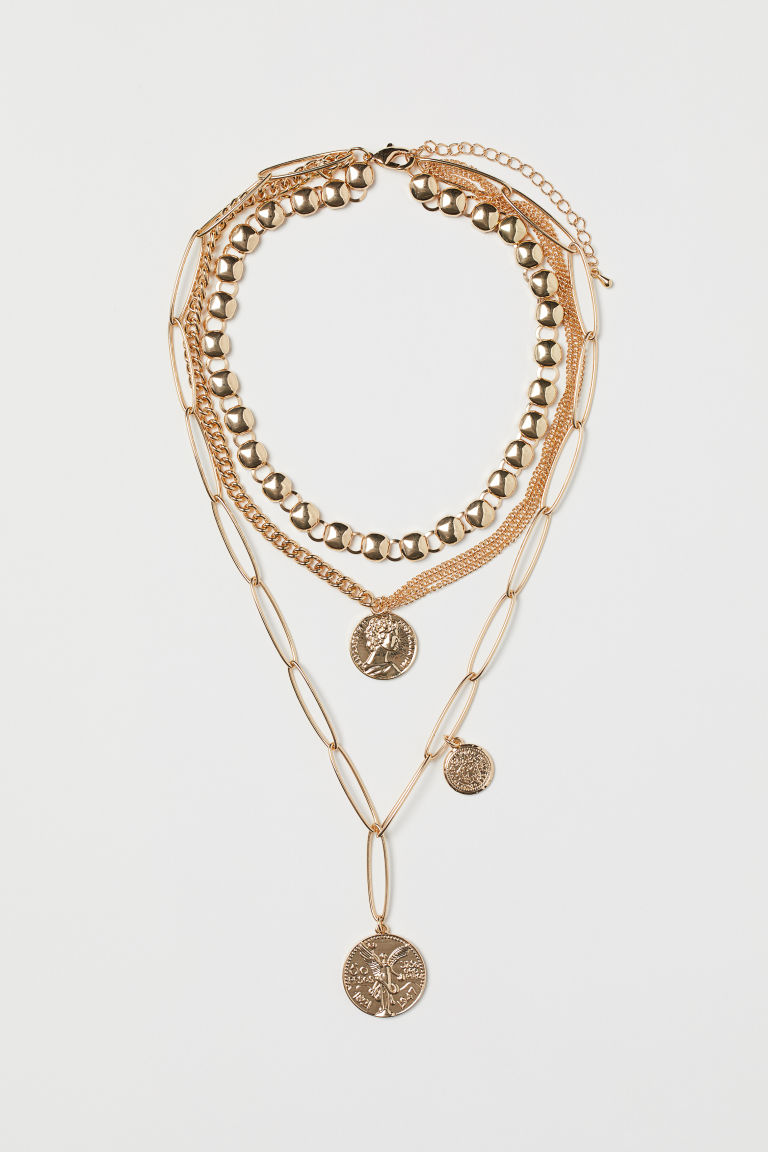 Multi-strand necklace - Gold-coloured - Ladies | H&M CN