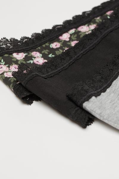 H&M - Pack de 3 Hipsters de algodón - 6