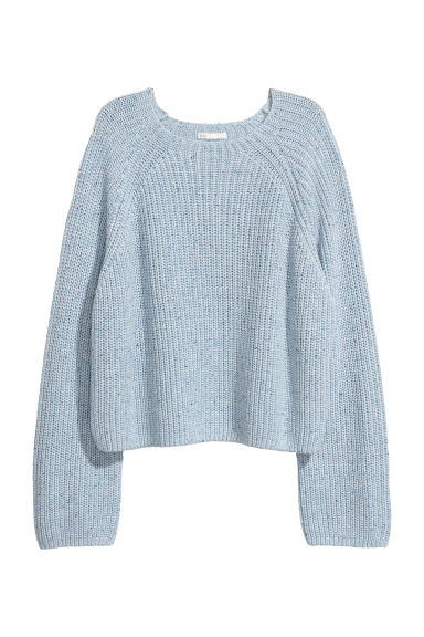 Ribbed jumper - Light blue marl - Ladies | H&M IE