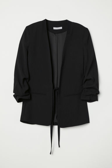 Jacket with ties - Black - Ladies | H&M