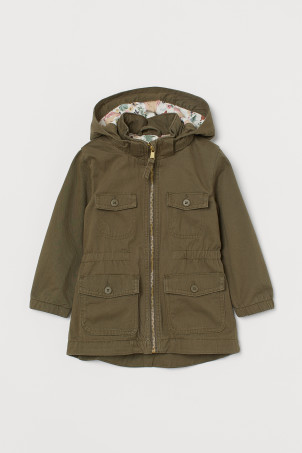 Cotton twill parka