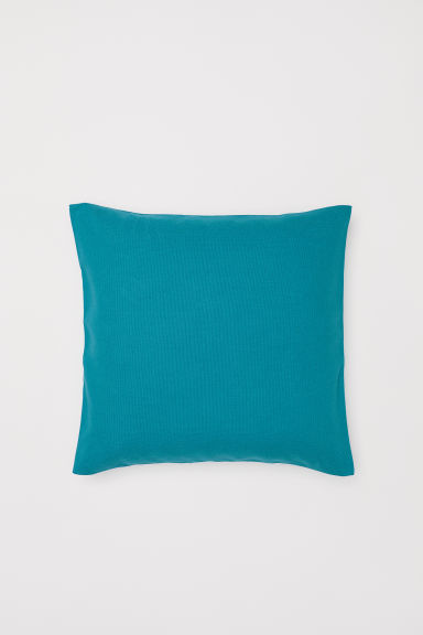 Cotton canvas cushion cover - Turquoise - Home All | H&M CN
