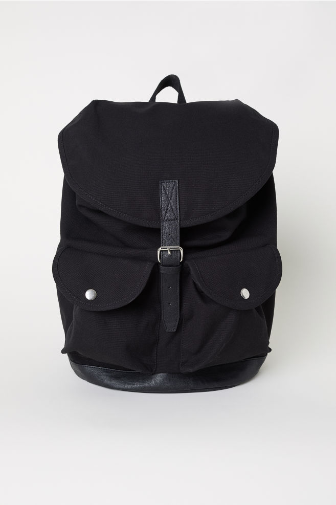4d3acefb6 Cotton Canvas Backpack - Black - Men | H&M ...