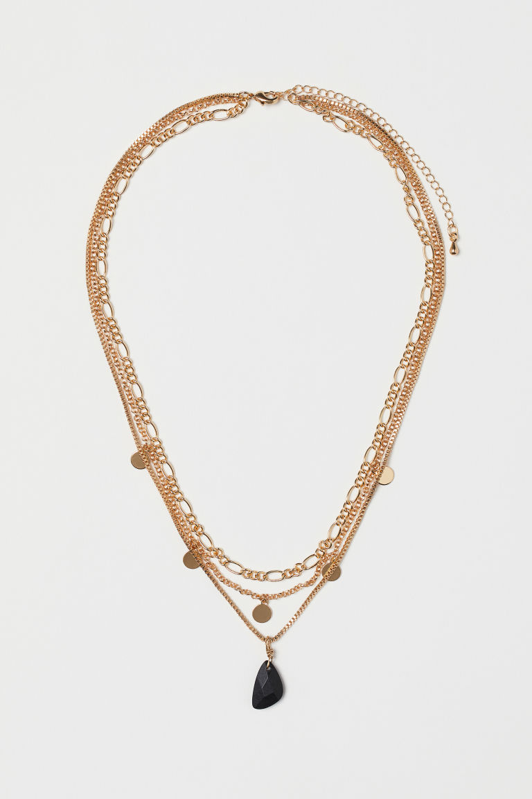 Three-strand necklace - Gold-coloured/Black - Ladies | H&M CN