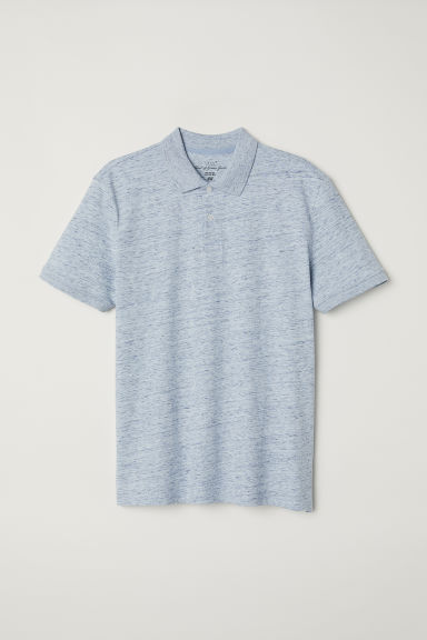Polo shirt - Light blue marl - Men | H&M CN