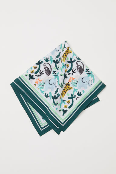Patterned scarf - Green - Kids | H&M