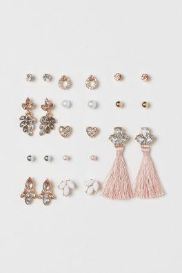 12 Pairs Stud Earrings
