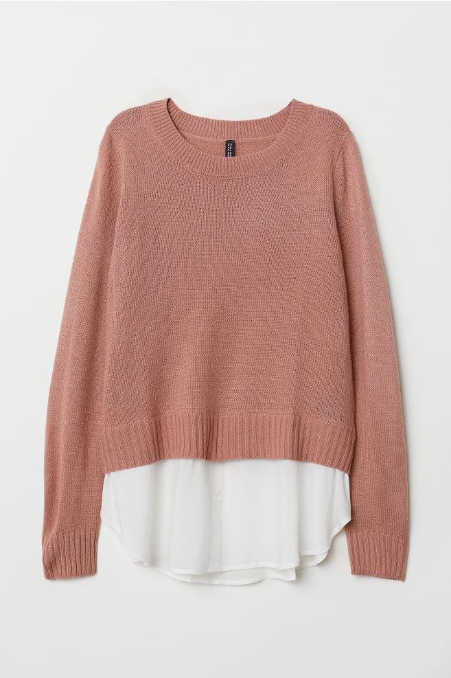 6a91716c02 Kötött pulóver - Retró rózsaszín - NŐI | H&M ...