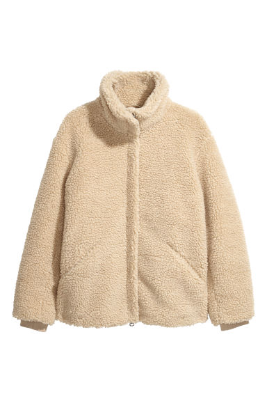 H&M+ Pile jacket - Beige - Ladies | H&M GB