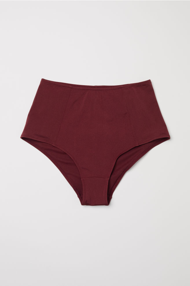 bbc3238c0b02b Bikini bottoms High waist - Burgundy - Ladies | H&M ...