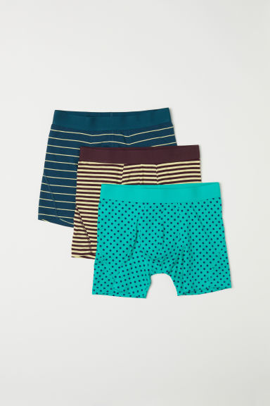 3-pack Boxer Shorts - Green/patterned - Men | H&M US