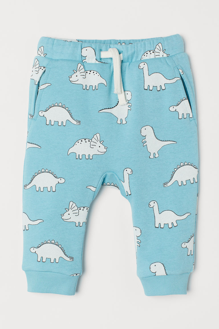 Joggers - Light blue/Dinosaurs -  | H&M
