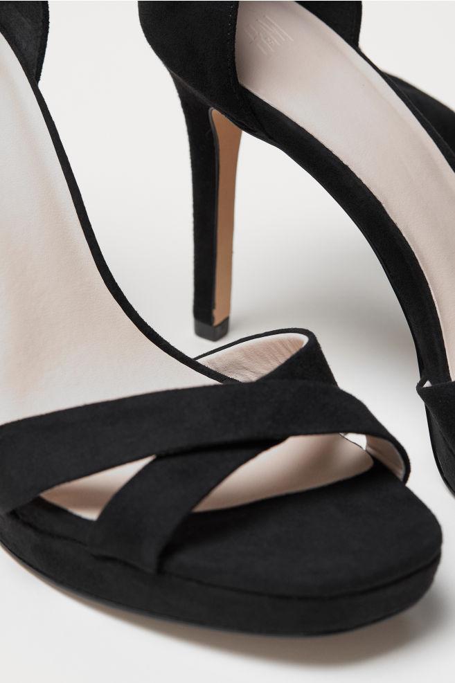 3a914c154af ... Sandals with Ankle Tie - Black - Ladies