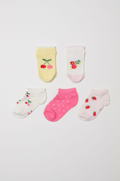 5-pack trainer socks - Powder pink - Kids | H&M CN