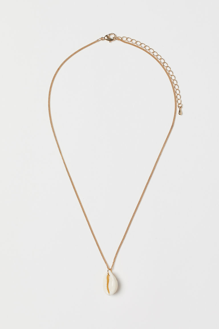 Necklace with Pendant - Gold-colored/white - Ladies | H&M CA