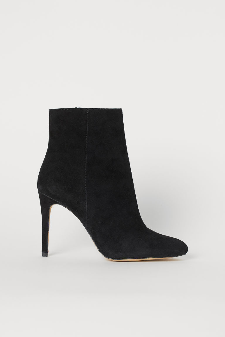 Suede Ankle Boots - Black - Ladies | H&M US