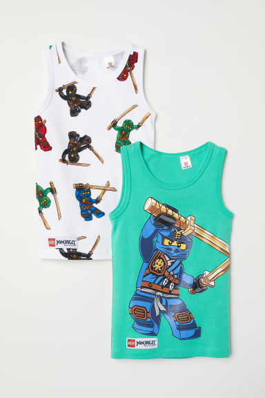 2-pack vest tops - Green/Ninjago -  | H&M